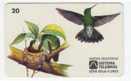 BRASIL B-838 Magnetic Telebras - Animal, Bird, Colibri - Used - Brésil