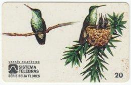 BRASIL B-839 Magnetic Telebras - Animal, Bird, Colibri - Used - Brésil