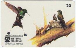 BRASIL B-840 Magnetic Telebras - Animal, Bird, Colibri - Used - Brésil