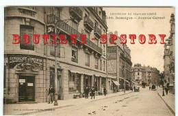 OF 25 - BESANCON - RARE < MENU En CARTE POSTALE < RARE VISUEL Du SYNDICAT D'INITIATIVE AVENUE CARNOT - OFFICE TOURISME - Besancon