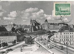 D25431 CARTE MAXIMUM CARD 1950 POLAND - REBUILDING WARSZAWA CP ORIGINAL - Architecture