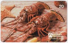 BRASIL B-855 Magnetic Telebras - Animal, Sea Life, Lobster - Used - Brésil
