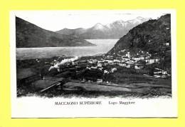 CPA Italie - Maccagno Superiore - Lago Maggiore ( Train Vapeur, Carte Peu Commune ) - Varese