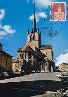D25448 CARTE MAXIMUM CARD TRIPLE 1968 SWITZERLAND - PAYERNE ABBEY CP ORIGINAL - Abbazie E Monasteri