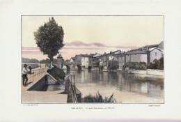 1902 - Phototypie Couleur - Bar-le-Duc (Meuse) - Le Pont Notre-Dame - FRANCO DE PORT - Vieux Papiers