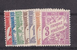 Inde  N°12 à 18** Taxe - Inde (1892-1954)