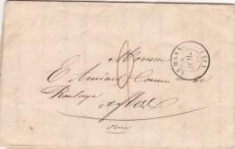 325  -  LETTRE  - LAC - 28.7.1849  -  LE MANS  -  FLERS - 1849-1876: Periodo Clásico