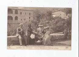 LAGHET (ALPES MARITIMES) 939 PELERINS DEJEUNANT SUR LE BORD DE LA ROUTE (BELLE ANIMATION) - Frankreich