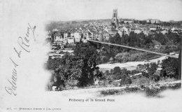 [DC9493] CPA - SVIZZERA - SUISSE - FRIBURGO ET LE GRAND PONT - Viaggiata 1899 - Old Postcard - FR Fribourg