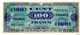 BILLET DE 100 FRANCS - SERIE DE 1944  -  VERSO FRANCE  - TYPE DOLLARS   TRES BON ETAT - 1945 Verso France