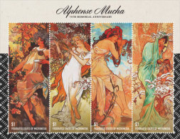 MICRONESIA  IGPC # 1439 SH ; MINT N H STAMPS OF ALPHONSE MUCHA - Micronesia