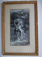 - Tissé Sur Soie - L'orage. NF. Neyret Frères. Saint Etienne - - Rugs, Carpets & Tapestry
