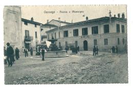 CPA  ITALIE GUSSAGO PIAZZA E MUNICIPIO ANIMEE - Italia