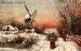 Raphael Tuck & Sons - 9891 Winter's Mantle, Moulin - Tuck, Raphael
