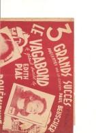 3 Grands Succés - Le Vagabond(E. PIAF) - Bohemienne (T. ROSSI) - En Vélo! (Georgius) - Partitions Musicales Anciennes