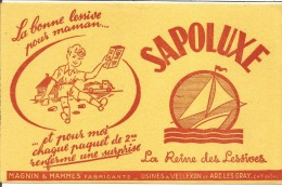 BUVARD LESSIVE SAPOLUX (HAUTE SAONE) - Blotters