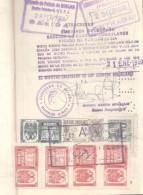 PASAPORTE ARGENTINO DADO EN 1959 DE UN MASCULINO CON MUCHOS TIMBRES CONSULARES - Historical Documents