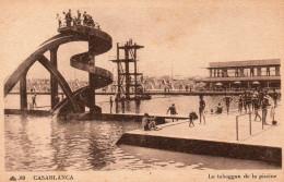 6741. CPA MAROC. CASABLANCA. LE TOBOGAN DE LA PISCINE. ANNEES 30 - Casablanca