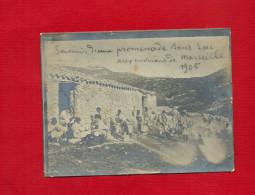 PHOTO 13 MARSEILLE  SOUVENIR MANOEUVRES MILITAIRES  CALANQUES ??? 1905  11,8x9 Cm - Marseille