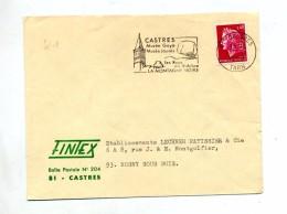 Lettre Flamme Castres Musee Goya Jaures - Marcophilie (Lettres)