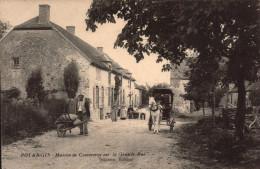 Marne - Potangis - Maison De Commerce Sur La Grand Rue - 1917 - Animee - Charrette Brouette - R/V - - La Ferte Sous Jouarre