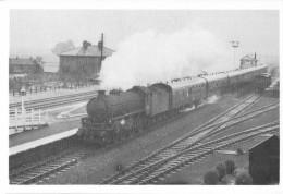 Railway Postcard LMS Black 5 44968 & LNER B1 61342 Tyndrum Upper 1959 - Trains