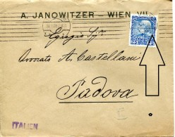 12471 Austria, Circuled Cover 1909 To Italy  STAMP  PERFIN !!!! - Lettres & Documents