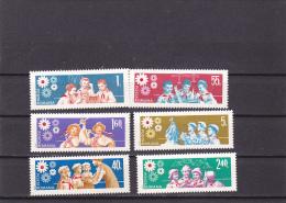 #162   PIONEERS, BOYS SCOUT  CHILDS, SCHOOL, FULL SET, 1968,, Mi. 2377/82  MNH**, ROMANIA. - 1948-.... Republics