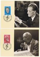 MUS-L133 - SUISSE 2 Cartes Maximum Ernest Ansermet Et Franck Martin - Musique