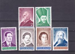 #162    ANNIVERSARY, FAMOUS MAN,   Mi. 4629/34     FULL SET     1990,  MNH**, ROMANIA. - Nuevos