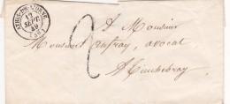 329  -  LETTRE  - LSC   -  12.9.1849  -  ATHIS DE L'ORNE  -  TINCHEBRAY - 1849-1876: Periodo Clásico
