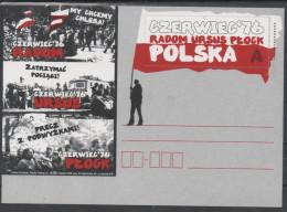 POLAND,2016, MINT, POSTAL STATIONERY, PREPAID POSTCARD, JUNE 1976, DEMONSTRATIONS, TRAINS, - Other