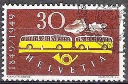 100 Jahre Post 1949: Zu 293 Mi 521 Yv 473 Post-Autobus Mit Post-Sonder-o (Zumstein CHF 15.00) - Poste