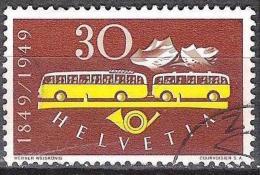 100 Jahre Post 1949: Zu 293 Mi 521 Yv 473 Post-Autobus Mit Post-Sonder-o (Zumstein CHF 15.00) - Bussen