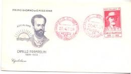 FDC - CAPITOLIUM - ITALIA -  CENTENARIO DELLA NASCITA DI CAMILLO PRAMPOLINI - ANNO 1959- AMR - 6. 1946-.. Republic