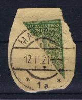 Yugoslavia 1920  Halbierung Nr 121  Used On Fragment. - 1919-1929 Königreich Der Serben, Kroaten & Slowenen