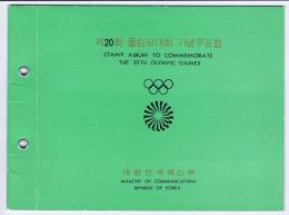 South Corea: Mi 845 - 848 In 4 Blocks + Blocks 354 + 355 In Commemorate Album 20Th Olympic Games - Corée Du Sud