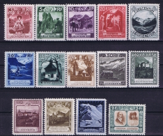 Liechtenstein: Mi Nr 94 - 107 MH/* Falz/ Charniere 1930 - Unused Stamps