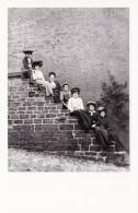 Postcard Edwardian Women Sitting Steps Hellidon Northamptonshire Alfred Newton - Other