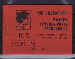 Switserland : O41 O 41 Markenheft Cancelled  Used  1956 - Pro Juventute