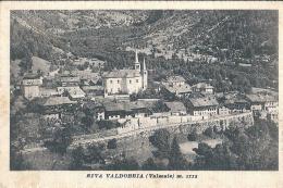 RIVA VALDOBBIA (VC) - VALSESIA - PANORAMA - F/P - V: 1944  - S/B - Vercelli