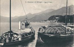 S. GIOVANNI DI BELLAGIO (CO) - PANORAMA CON BARCHE - C/E - F/P - N/V - Como