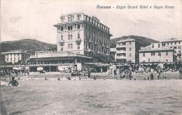 VARAZZE (SV) - BAGNI GRAND HOTEL E BAGNI ROMA - C/E - F/P - V: 1931 - Savona