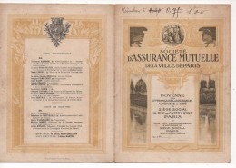 75 PARIS - SOCIETE D'ASSURANCE MUTUELLE De La VILLE De PARIS - DOCUMENT De 4 PAGES,SITUATION Au 31 MARS 1920, RARE - Bank & Insurance