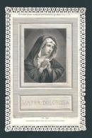 MATER DOLOROSA - Mm. 80X125 - MERLETTATO- ED. PANNIER - PL 942 - Religione & Esoterismo