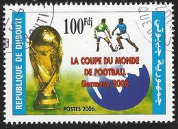 Djibouti 2006 World Cup Football Soccer Germany 100 Fdj Used - Djibouti (1977-...)