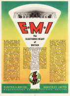 Vintage 1951 Advert EMI Electric & Musical Industries Electronic Heart Britain - Advertising