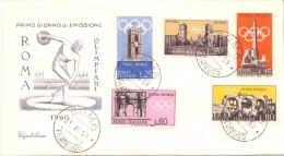 FDC - CAPITOLIUM -  ITALIA -  PREOLIMPICA - ANNO 1959 - TIMBRO ROMA FILATELICO - 6. 1946-.. Republic