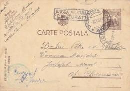 ROMANIAN OCCUPATION In UKRAINE - STATIONERY - TRANSNISTRIA To ROMANIA : 1942 - MILITARY CENSORSHIP - RARE !!! (u-935) - Entiers Postaux