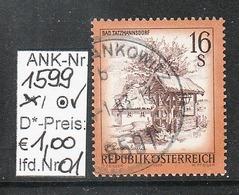 """10.10.1977 - FM/DM """"Schönes Österreich"""" S 16,00 Hellrötlichocker - O Gestempelt  - Siehe Scan (1599o 01-14) - 1971-80 Usados"""